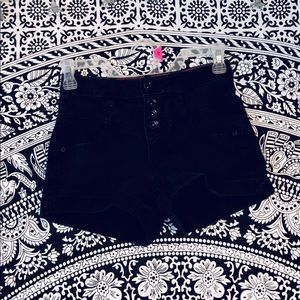 Hot Topic High Waisted Black Jean Shorts